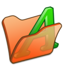 Folder orange font1