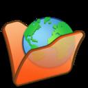 Folder orange internet