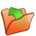 Folder orange parent