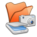 Folder orange scanners cameras