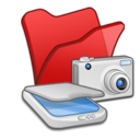 Folder red scanners cameras