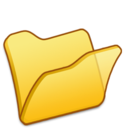 128x128 of Folder yellow