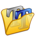 Folder yellow font2