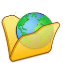 Folder yellow internet