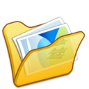 Folder yellow mypictures