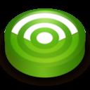128x128 of Rss green circle