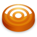 128x128 of Rss orange circle