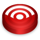 128x128 of Rss red circle