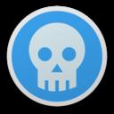 128x128 of Skull blue