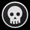 128x128 of Skull bw