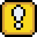 128x128 of Retro Exclamation Block