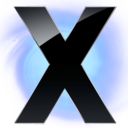 X Circle Blu