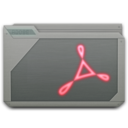128x128 of folder adobe acrobat
