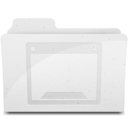 128x128 of DesktopFolderIcon White