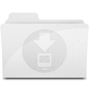 128x128 of DownloadsFolder White