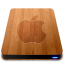 128x128 of Wooden Slick Drives   Apple