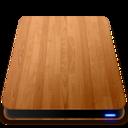 128x128 of Wooden Slick Drives   External