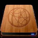 128x128 of Wooden Slick Drives   Server