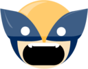 128x128 of wolverine angry
