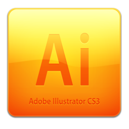256x256 of Ai CS3 Icon (clean)