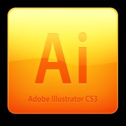 256x256 of Ai CS3 Icon (clean)