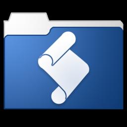 256x256 of Folder Actions Setup blue