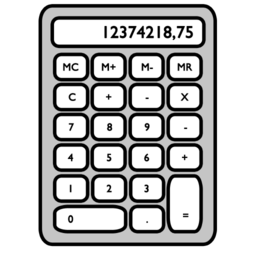 256x256 of calculator
