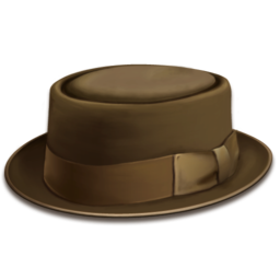 256x256 of hat brown