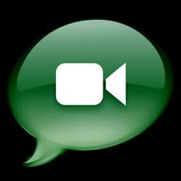 256x256 of iChat donkergroen