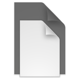 256x256 of (toolbar) documents black