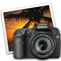 256x256 of eos 40d iphoto icon by darkdest1ny
