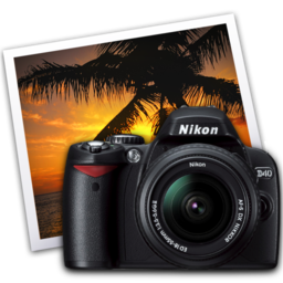 256x256 of nikon d40 iphoto icon by darkdest1ny