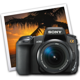 256x256 of sony a350 iphoto icon by darkdest1ny