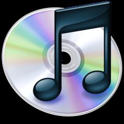256x256 of iTunes zwart