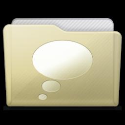 256x256 of beige folder chats