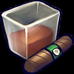 256x256 of Brown Liquid Filled Glizass With Cigar