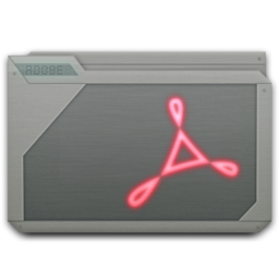 256x256 of folder adobe acrobat
