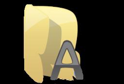 256x256 of Fonts folder