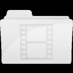 256x256 of MovieFolderIcon White