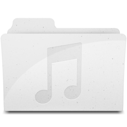 256x256 of MusicFolderIcon White