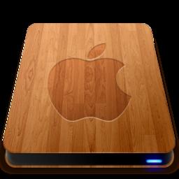 256x256 of Wooden Slick Drives   Apple