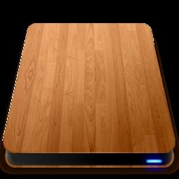 256x256 of Wooden Slick Drives   External