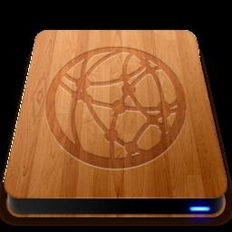 256x256 of Wooden Slick Drives   Server