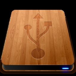 256x256 of Wooden Slick Drives   USB