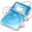 32x32 of ipod video blue apple