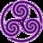 48x48 of Purple Wheeled Triskelion 1