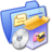 48x48 of Folder Blue Software Games