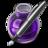 48x48 of Purple Fire w silver pen