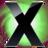 48x48 of X Circle Green