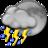 48x48 of Night Thunderstorms